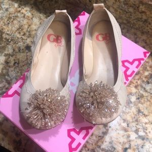 Used GB girls nude flat shoes
